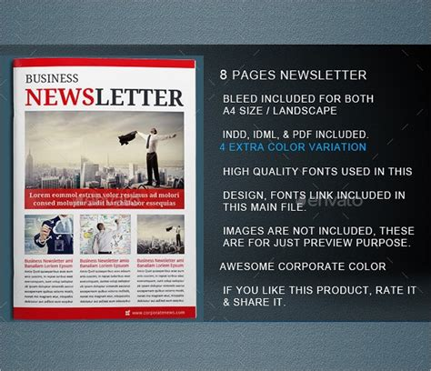 sample indesign newsletters sample templates