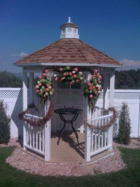 gazebo decorations rustic gazebo decorations weddingbee