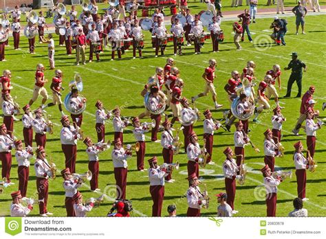 the marching chiefs of florida state the band that never lost a halftime show books florida state band editorial stock photo