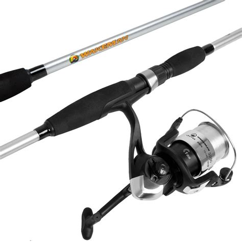 Reel Go Strile Dashing 1000 wakeman strike series spinning rod and reel combo in silver metallic m500011 the home depot