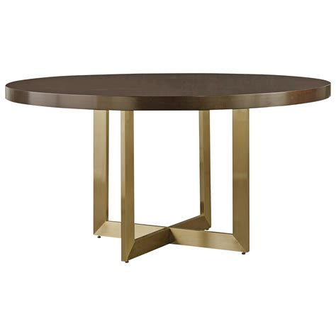 brass dining table base universal modern gibson dining table with brushed