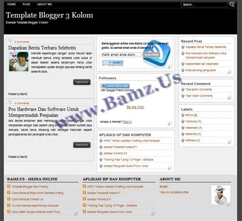 template parser generator template blogger 3 kolom