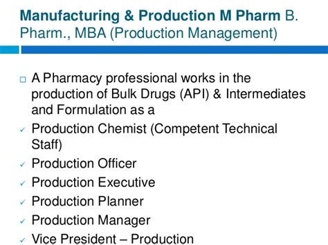 Executive Mba In Pharmaceutical Management by Careers In Pharma Industry
