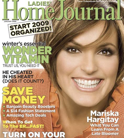 home journal january 2009 mariska hargitay
