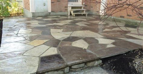 flagstone patios installation repair work
