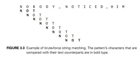 linear pattern matching algorithm sequential search and brute force string matching study