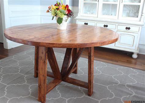 trestle dining table  diy plans rogue engineer