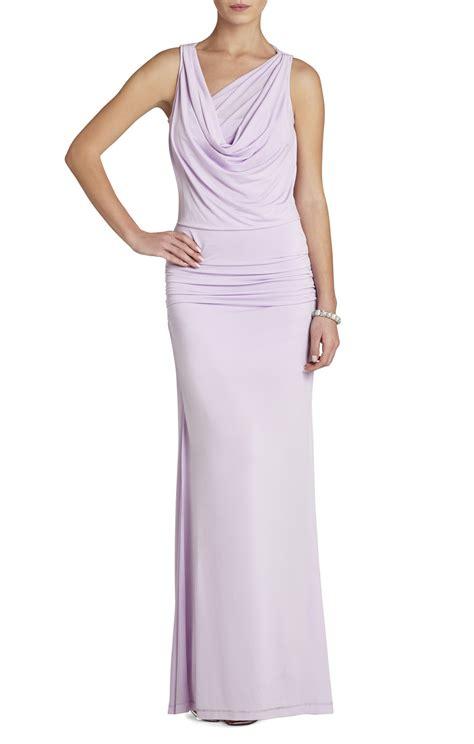 draped neck bcbgmaxazria nicole draped neck floor length dress bcbg com