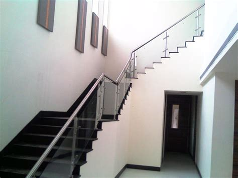 glass stair railings indoor glass stair railings