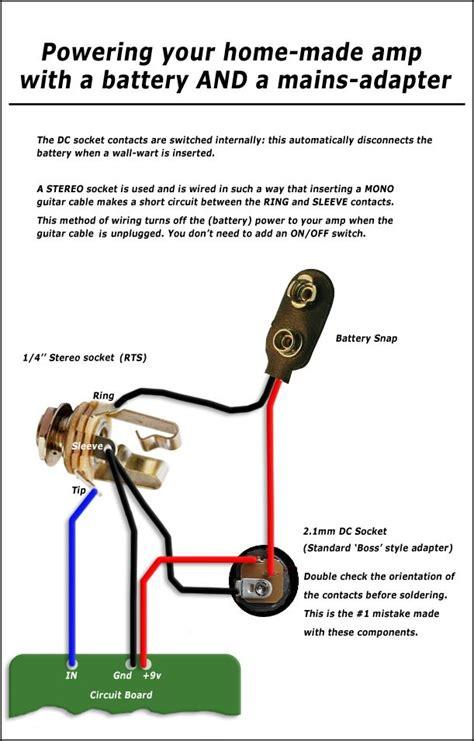 electric guitar input diagram free wiring