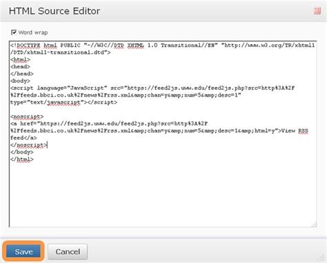 html layout source code adding rss feeds to your desire2learn course learning
