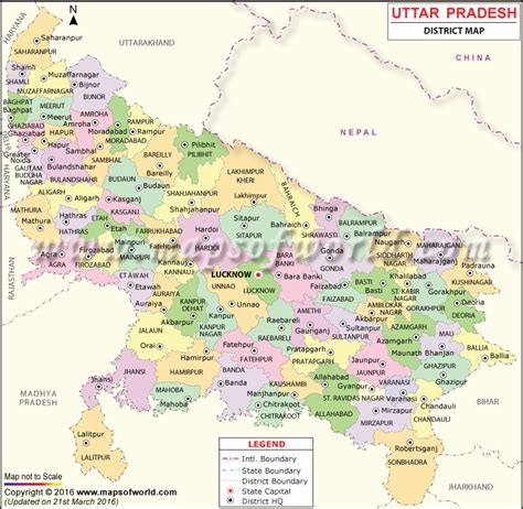 ups maps up map districts in uttar pradesh