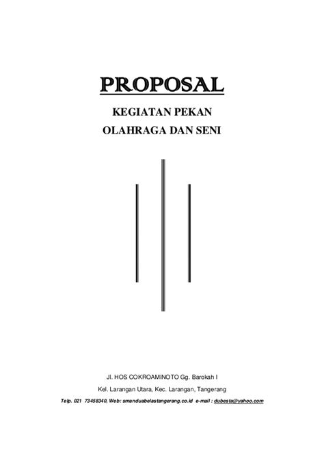 Collection Of Membuat Proposal Seni Musik Proposal Pengajuan