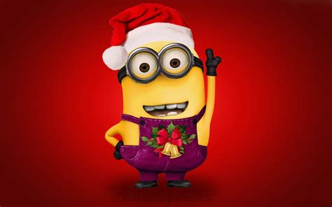 images of christmas minions christmas minion in santa claus costume free desktop