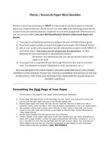 Exle Of Mla Format Research Paper by Mla Research Paper Format Exle