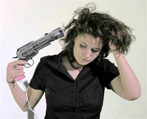 Handgun Hair Dryer seems dangerous revolver hair dryer things