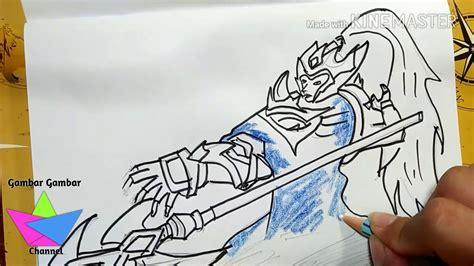 gambar keren zilong luar biasa keren menggambar hero zilong mobile legends