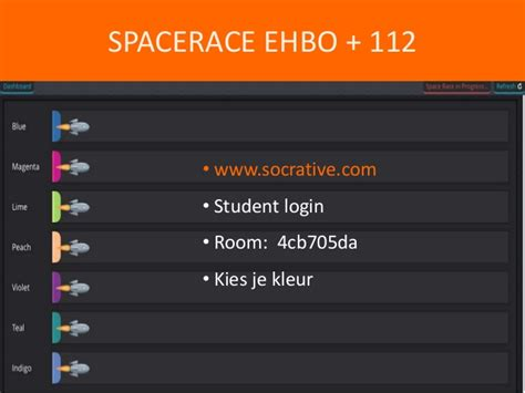 Socrative Student Room by 16 Ehbo Lessenserie A