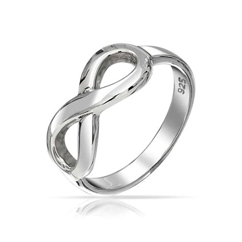 figure 8 infinity symbol sterling silver ring
