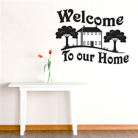 welcome our home entryway wall decals