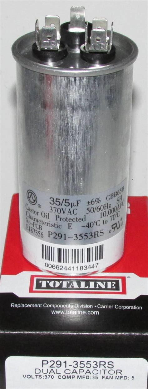 run capacitor for carrier air conditioner 35 5 mfd 370 volt bryant carrier dual run capacitor