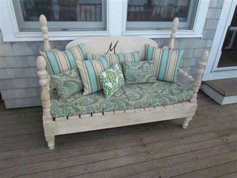 bench from headboard and footboard benches made from bed headboards bench made from