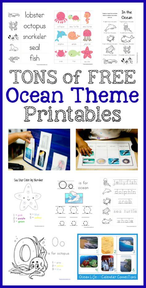 printable ocean alphabet book 1 1 1 1 in the sea preschool pack