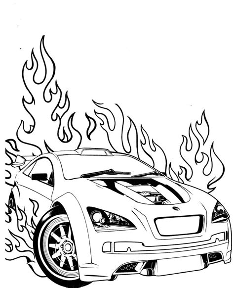 hot wheels coloring page az coloring pages