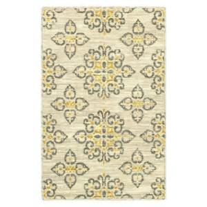 Gray And Yellow Kitchen Rugs Shaw Living 174 Global Tiles Accent Rug Gray Yellow 2 X3