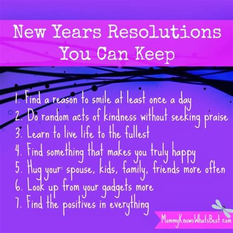 New Years Resolutions Anyone by New Year Resolutions That You Can Keep