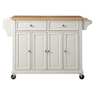 target kitchen island cart crosley wood top kitchen cart island in white