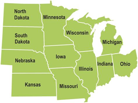 map of midwest states midwest chp technical assistance partnerships states