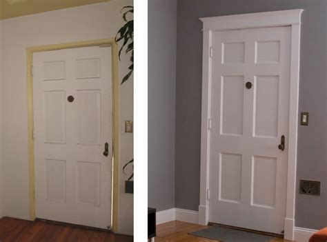 wide baseboards home ideas pinterest molding before and after new paint new molding around