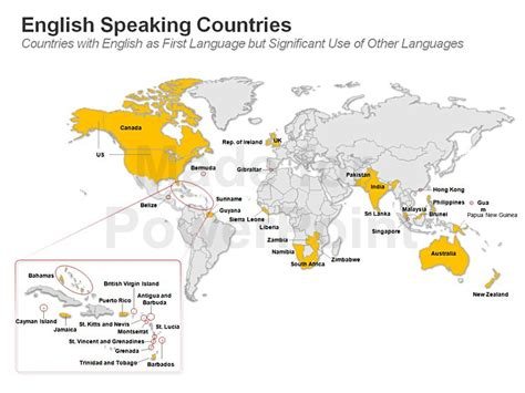 ten speaking countries speaking countries map editable ppt