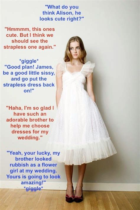caption tricked into wearing a dress www pinterest com p retty clones pinterest sissi and