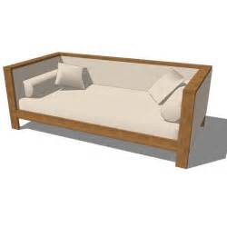 Wood Daybed Frame Patterned Vaneer Table And Daybed 3d Model Formfonts 3d Models Textures
