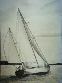Sailboat in the breeze original pencil drawing by paintingjimmy1