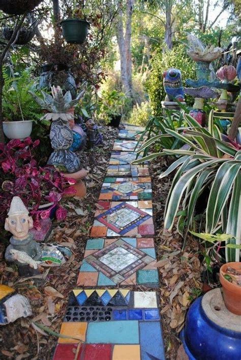mosaic garden path ideas  garden