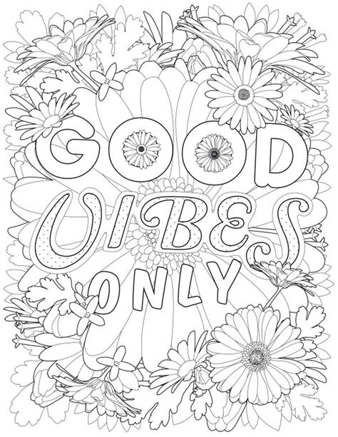 good vibes coloring book pages 78 coloring book good vibes good vibes coloring