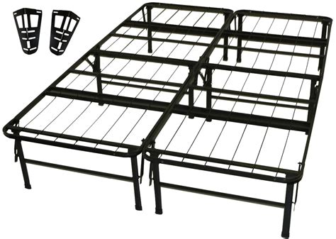 Greenhome123 Full Size Metal Platform Bed Frame With Bed Frame Headboard Brackets