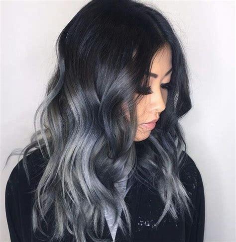 dark hair with grey models 1000 ideas about purple grey hair on pinterest grey