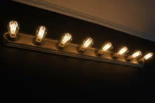 Vanity Lights With Edison Bulbs Rise And Shine Bathroom Vanity Lighting Tips