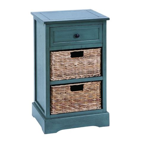 Drawers With Wicker Baskets by Coastal Cabinet With Wicker Drawers For The Home