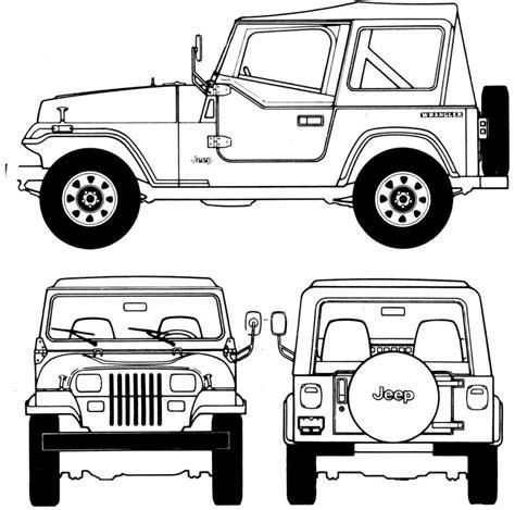 Jeep Wrangler Drawing 18 Best Blueprints Images On Blue Prints Car