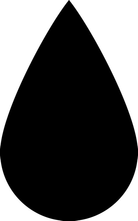 Black Ink Drop Shape Svg Png Icon Free Download (#35304
