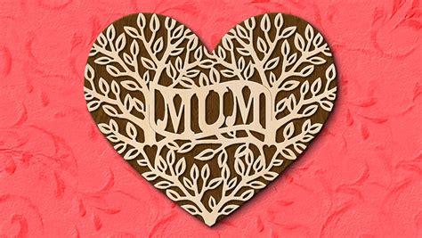 fretwork heart mum pattern scroll  woodworking crafts