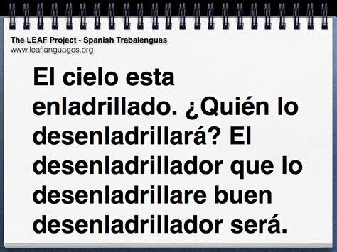 las trabalenguas spanish tongue twisters with ll