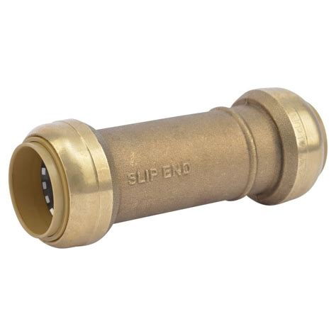sharkbite 1 1 4 in brass push to connect slip coupling