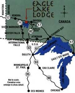 eagle lake canada map eagle lake lodge our location