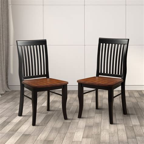 solid wood dining room chairs furniture of america nora two tone solid wood slat back